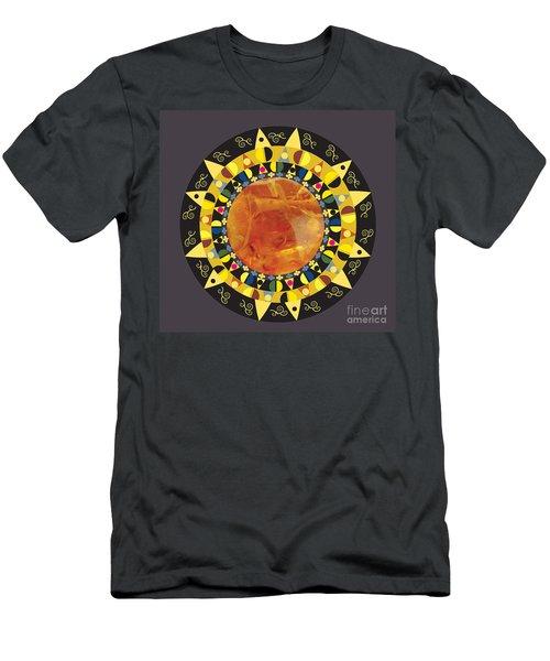 Amber Mandala Men's T-Shirt (Athletic Fit)