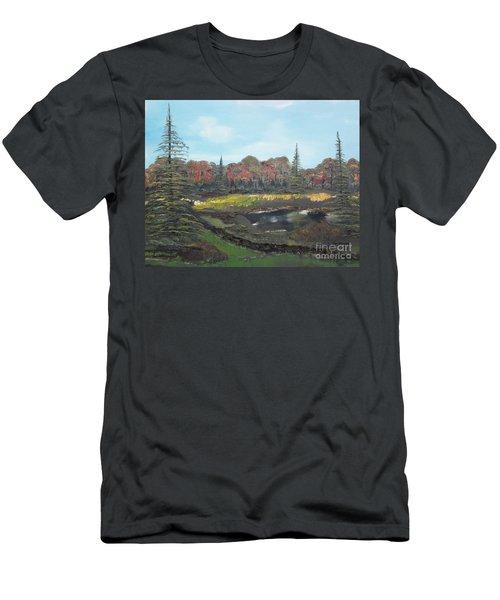 Men's T-Shirt (Slim Fit) featuring the painting Autumn Landscape by Jan Dappen