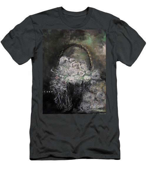 Men's T-Shirt (Athletic Fit) featuring the painting Beautiful Roses by Laurie L