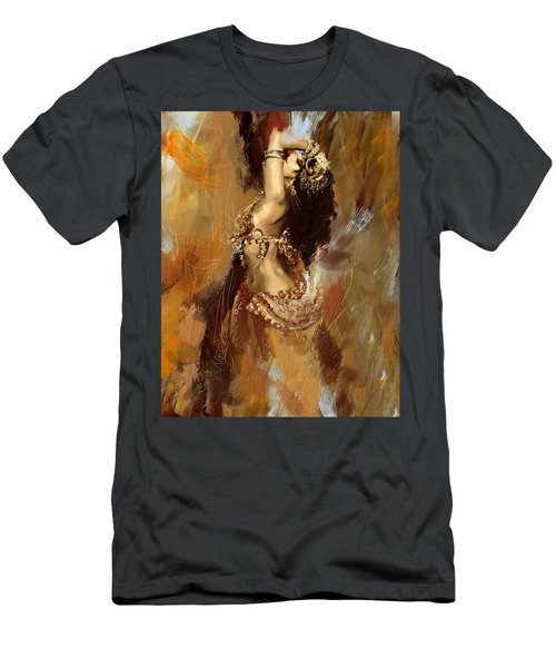 Abstract Belly Dancer 17 Men's T-Shirt (Athletic Fit)