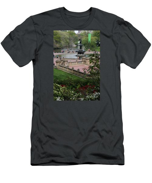 Bethesda Fountain - Central Park Nyc Men's T-Shirt (Athletic Fit)