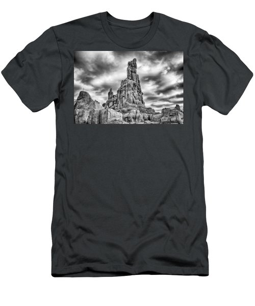 Men's T-Shirt (Athletic Fit) featuring the photograph Big Thunder Mountain Railroad by Howard Salmon