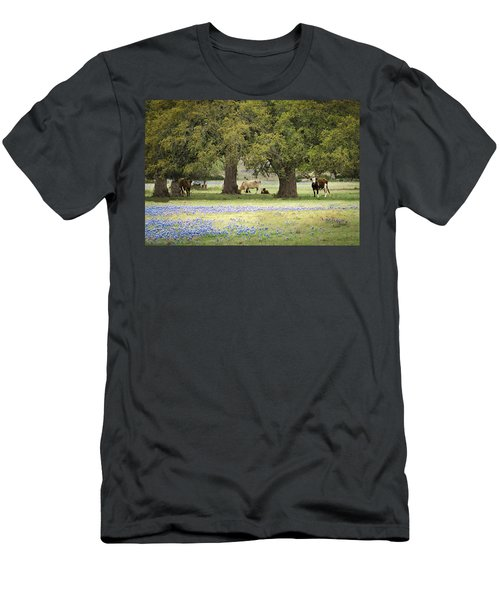 Bluebonnets And Bovines Men's T-Shirt (Athletic Fit)