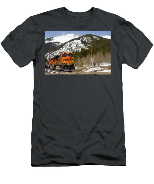 Bnsf Rolls Through Rollins Pass Colorado Men's T-Shirt (Athletic Fit)