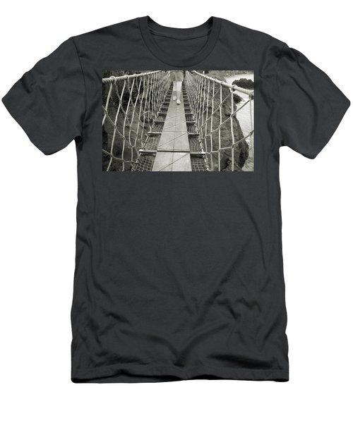 Bridge Walk Carrick-a-rede Northern Ireland Men's T-Shirt (Athletic Fit)