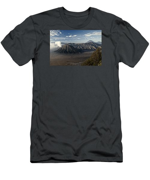 Bromo Mountain Men's T-Shirt (Slim Fit) by Miguel Winterpacht