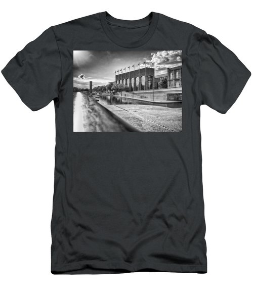 Men's T-Shirt (Athletic Fit) featuring the photograph Canal Walk by Howard Salmon