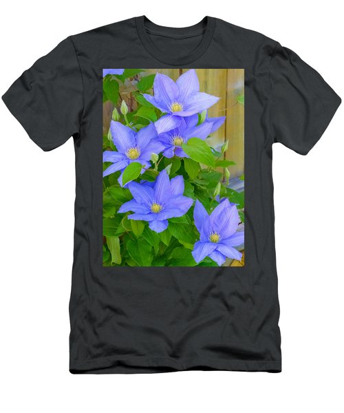 Men's T-Shirt (Athletic Fit) featuring the photograph Clematis  by Garvin Hunter
