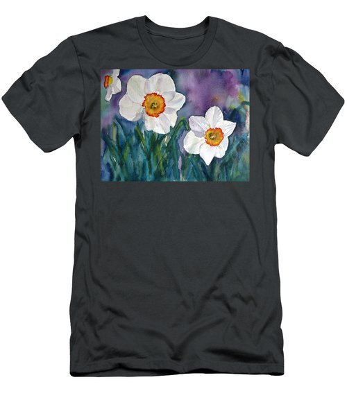 Daffodil Dream Men's T-Shirt (Slim Fit) by Anna Ruzsan