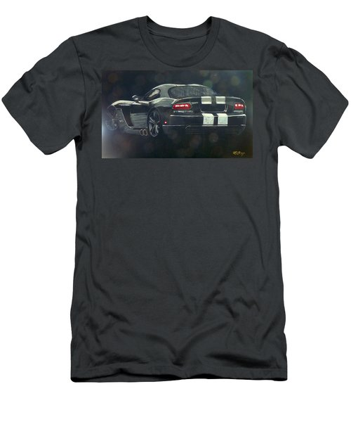 Men's T-Shirt (Athletic Fit) featuring the painting Dodge Viper 2 by Richard Le Page