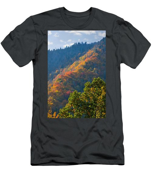 Fall Smoky Mountains Men's T-Shirt (Athletic Fit)