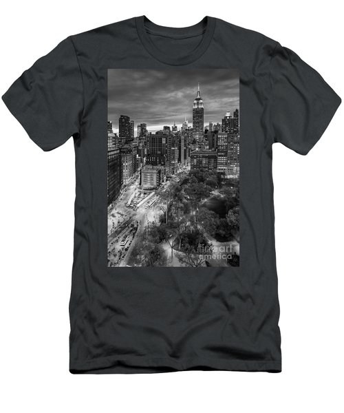 Flatiron District Birds Eye View Men's T-Shirt (Athletic Fit)