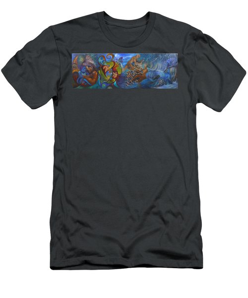 Four Seasons Men's T-Shirt (Slim Fit) by Claudia Goodell