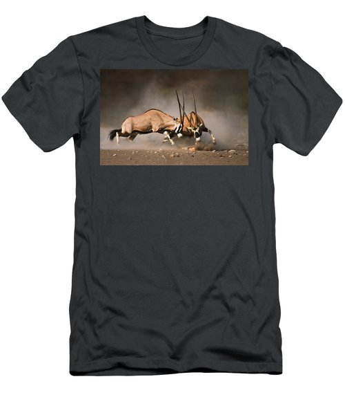 Gemsbok Fight Men's T-Shirt (Athletic Fit)