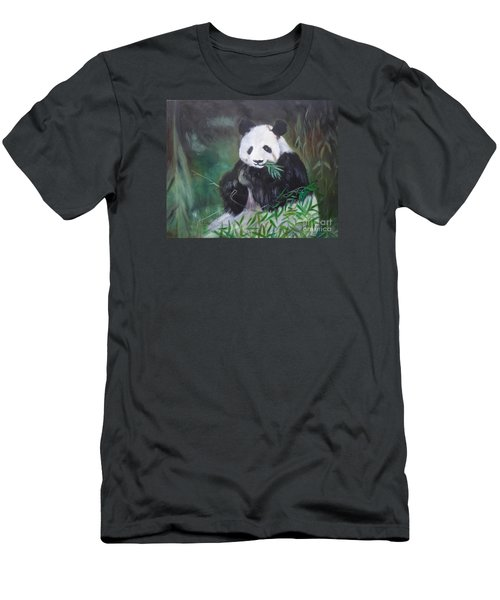 Giant Panda 1 Men's T-Shirt (Athletic Fit)
