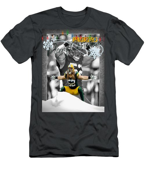 Green Bay Packers Christmas Card Men's T-Shirt (Athletic Fit)