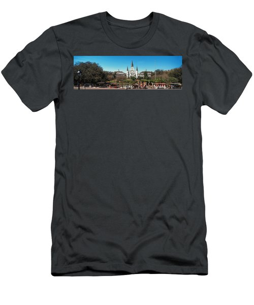 Horsedrawn Carriages On The Road Men's T-Shirt (Athletic Fit)