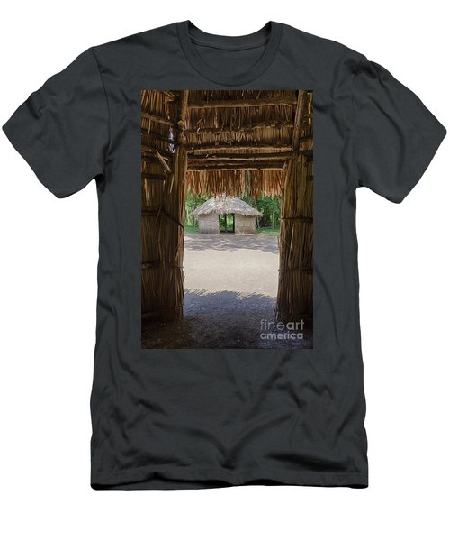 Men's T-Shirt (Athletic Fit) featuring the photograph Indigenous Tribe Huts In Puer by Bryan Mullennix