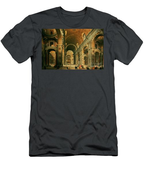 Interior Of St Peters In Rome Men's T-Shirt (Athletic Fit)