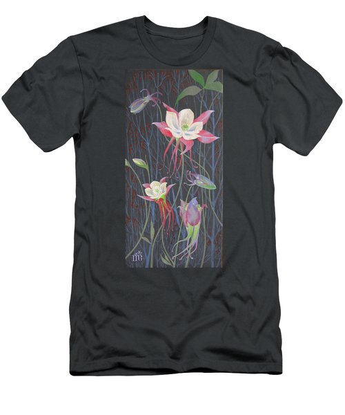Men's T-Shirt (Slim Fit) featuring the painting Japanese Flowers by Marina Gnetetsky