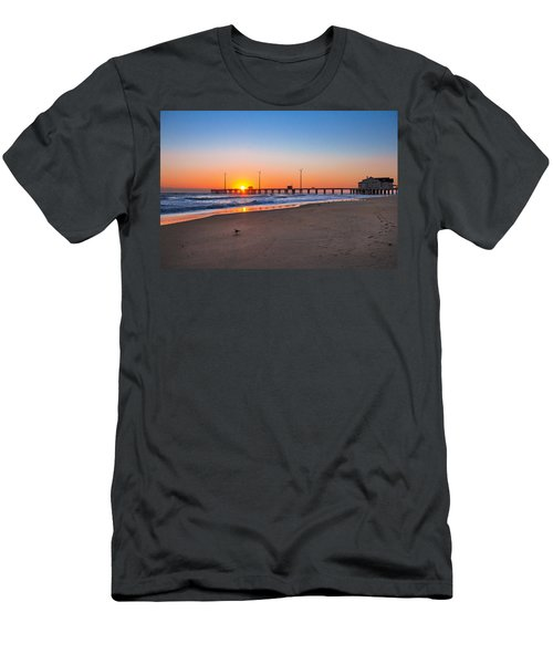 Jennettes Pier Men's T-Shirt (Slim Fit) by Mary Almond
