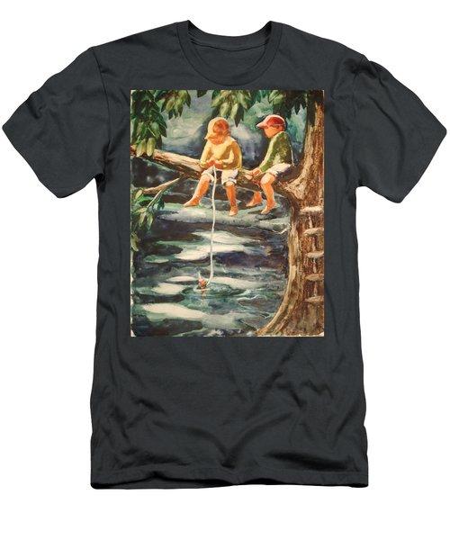 Jes Fishin Men's T-Shirt (Athletic Fit)