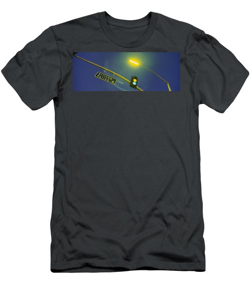 Low Angle View Of Traffic Lights Men's T-Shirt (Athletic Fit)