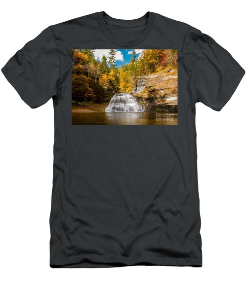 Lower Treman Falls Men's T-Shirt (Athletic Fit)