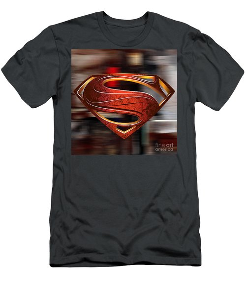 Man Of Steel Superman Men's T-Shirt (Slim Fit) by Marvin Blaine