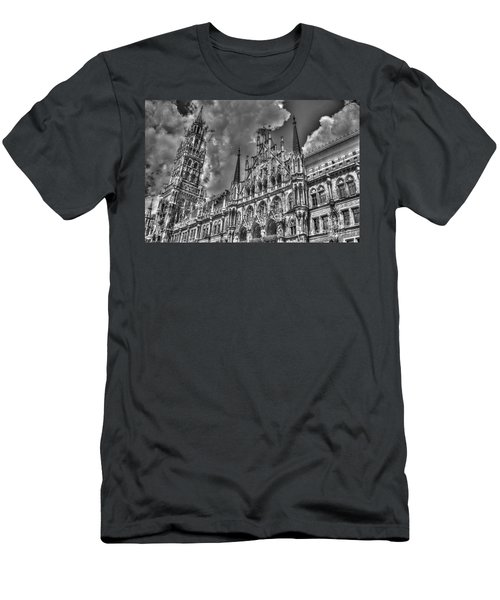 Men's T-Shirt (Slim Fit) featuring the photograph Marienplatz In Munich by Joe  Ng