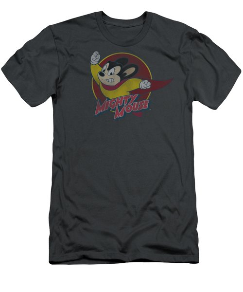 Mighty Mouse - Mighty Circle Men's T-Shirt (Athletic Fit)