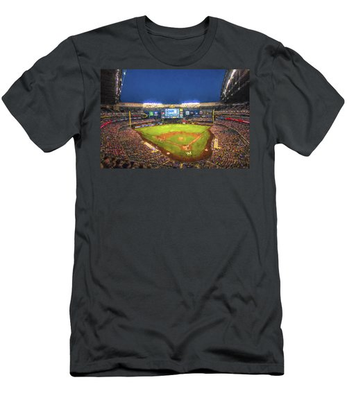 Milwaukee Brewers Miller Park Painted Digitally Men's T-Shirt (Athletic Fit)