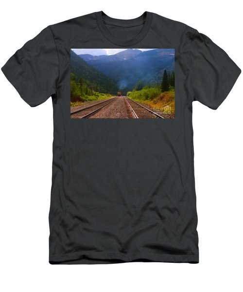 Misty Mountain Train Men's T-Shirt (Athletic Fit)