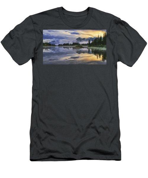 Molas Lake Sunrise Men's T-Shirt (Slim Fit) by Priscilla Burgers