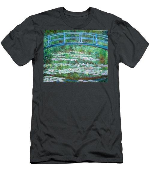 Men's T-Shirt (Slim Fit) featuring the photograph Monet's The Japanese Footbridge by Cora Wandel