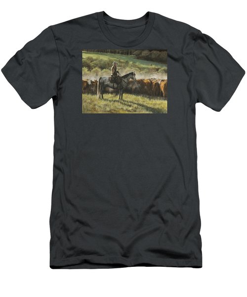 Morning In The Highwoods Men's T-Shirt (Slim Fit) by Kim Lockman