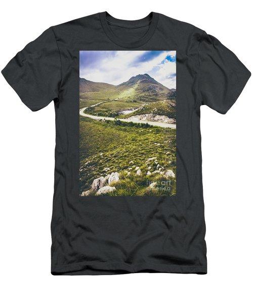 Mountain Scene In West Coast Of Tasmania Australia Men's T-Shirt (Athletic Fit)