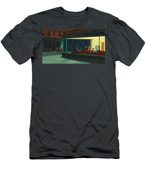 Nighthawks Men's T-Shirt (Slim Fit) by Edward Hopper