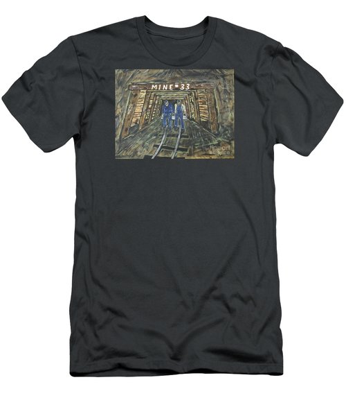 No Windows Down There In The Coal Mine .  Men's T-Shirt (Slim Fit) by Jeffrey Koss