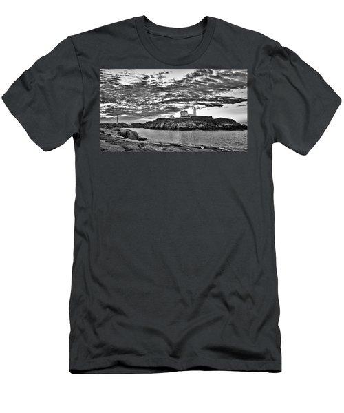 Nubble Lighthouse - Maine Men's T-Shirt (Athletic Fit)