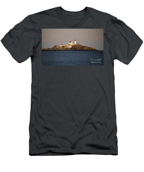 Nubble Lighthouse Men's T-Shirt (Athletic Fit)