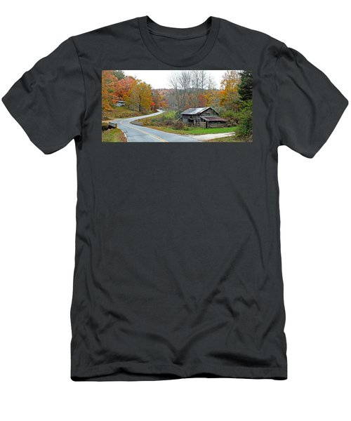 Old Barn Along Slick Fisher Road Men's T-Shirt (Athletic Fit)