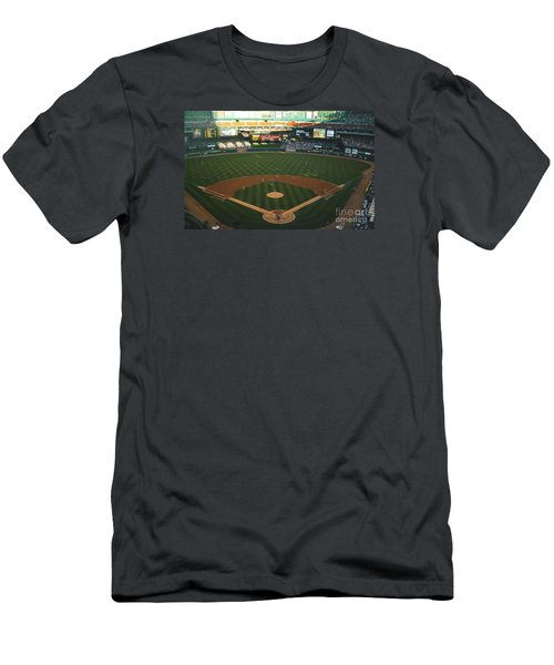 Old Busch Field Men's T-Shirt (Slim Fit) by Kelly Awad