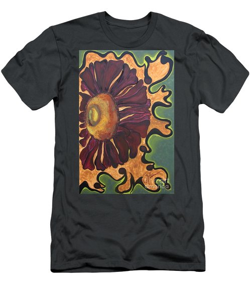 Men's T-Shirt (Slim Fit) featuring the painting Old Fashion Flower by Jolanta Anna Karolska
