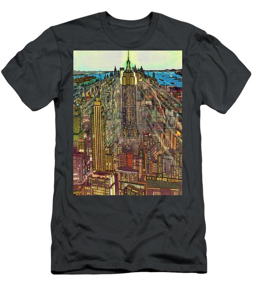 New York Mid Manhattan 1971 Men's T-Shirt (Athletic Fit)