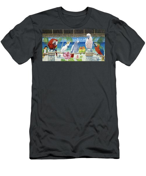 Parrots In Paradise Men's T-Shirt (Slim Fit) by Danielle  Perry