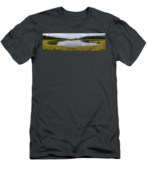 Pond In Middle Of Sedge Meadow Men's T-Shirt (Athletic Fit)