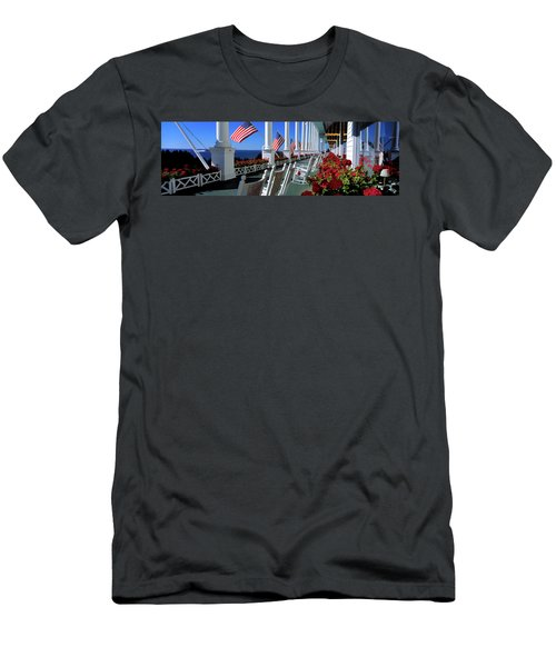 Porch Of The Grand Hotel, Mackinac Men's T-Shirt (Athletic Fit)