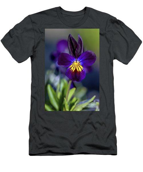 Purple Viola Men's T-Shirt (Athletic Fit)