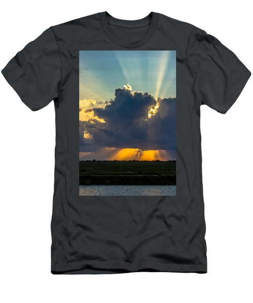 Rays From The Clouds Men's T-Shirt (Athletic Fit)